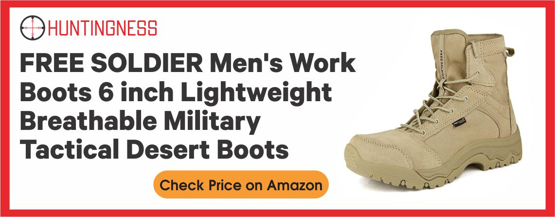 FREE SOLDIER Men's - Best Lightweight Hunting Boots