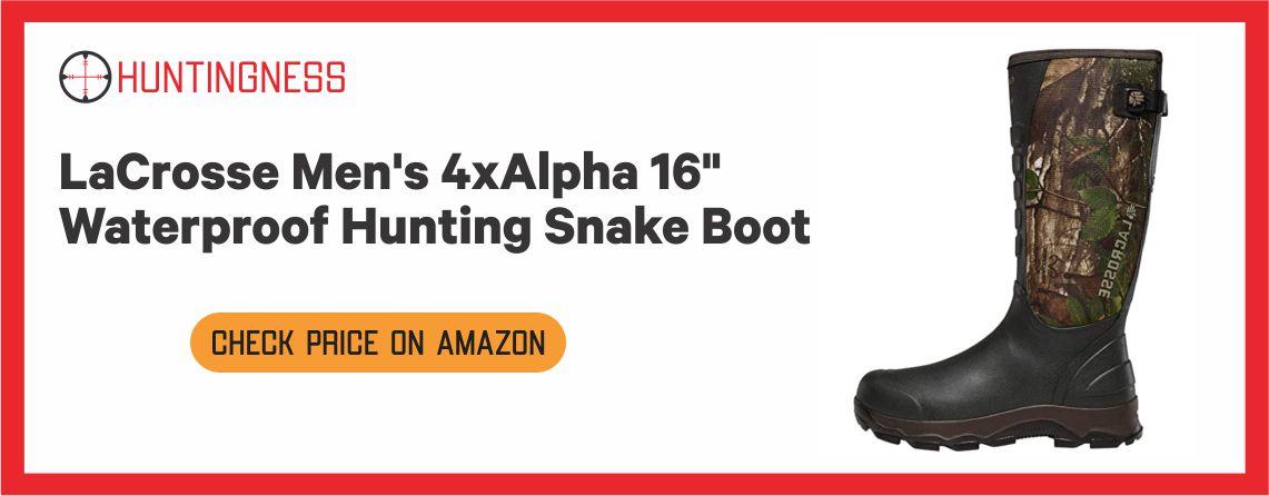 LaCrosse Men's 4xAlpha 16 - Waterproof Hunting Snake Boots