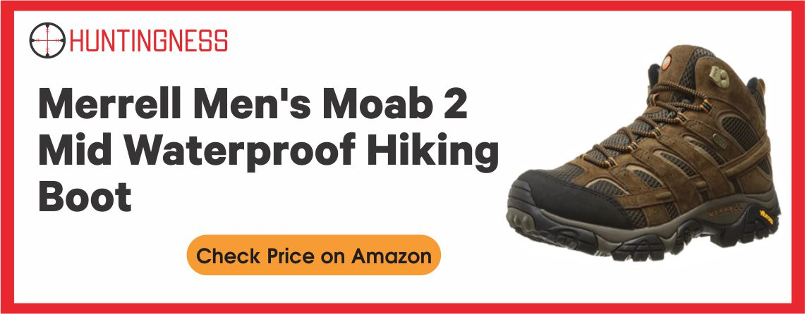 MERRELL MOAB 2 - Best Hunting Boots for Wide Feet
