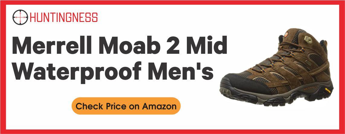 Merrell Moab 2 Mid - Best Waterproof Hunting Boot