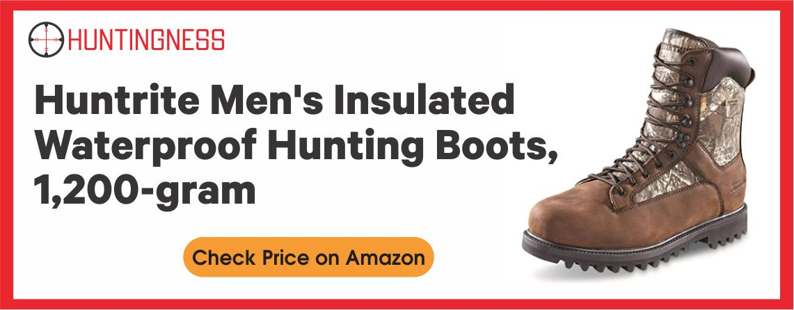 Huntrite Men's Insulated - Best Waterproof Hunting Boots