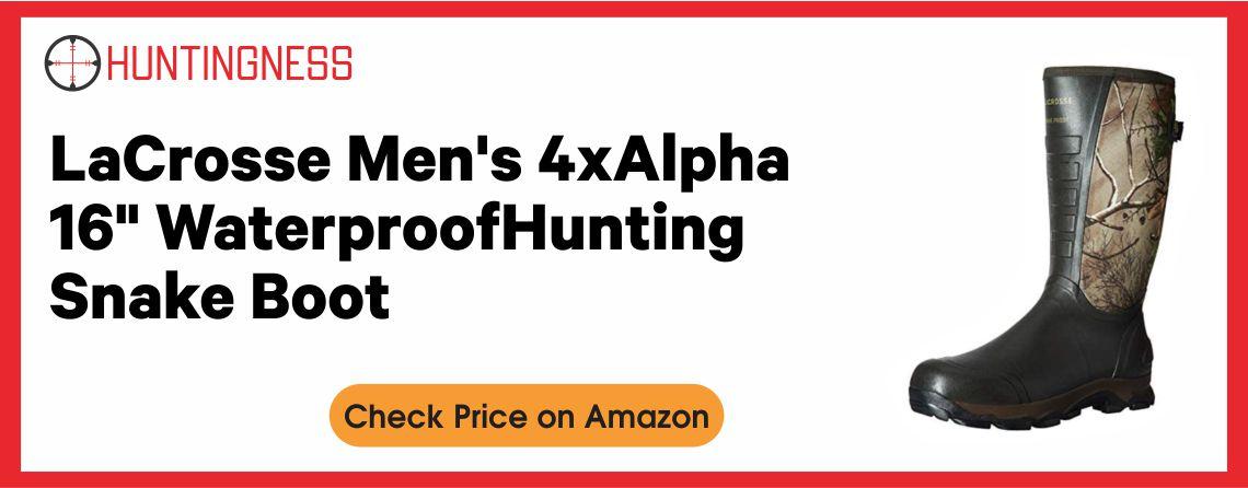LaCrosse Men's 4x Alpha - Best Snake Hunting Boots