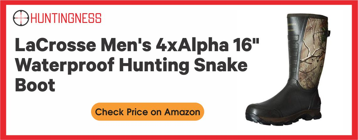 Lacrosse Men's 4X Alpha - Best Hunting Snake Boots