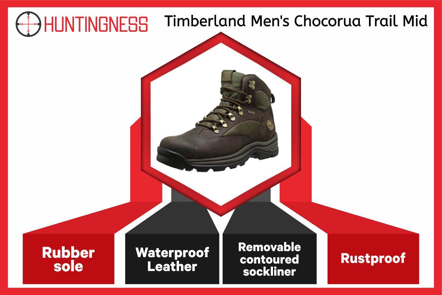 Timberland Men's Chocorua - Best Hunting Boots for Plantar Fasciitis Infographics