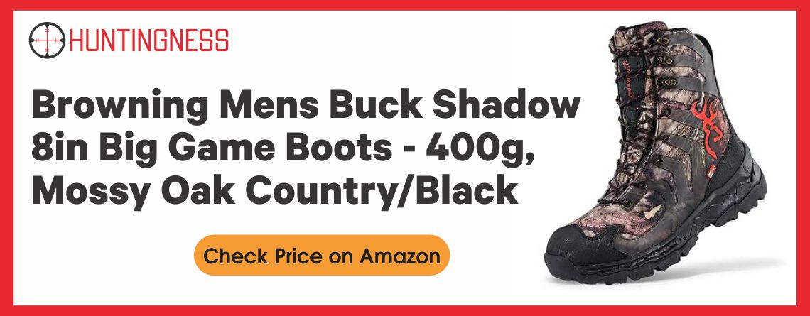 Browning Mens Buck Shadow 8in Big Game Boots - 400g, Mossy Oak Country/Black, 11M, F000003990234