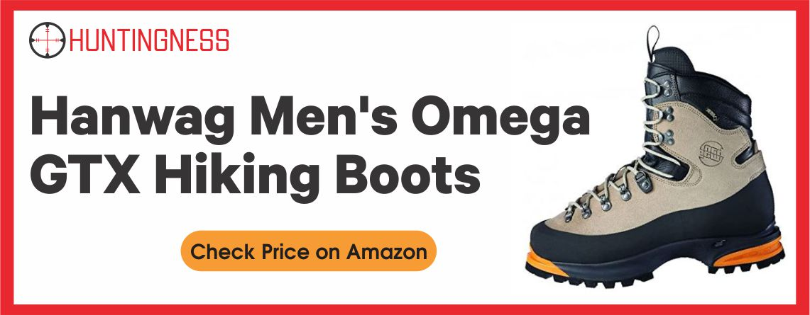 Hanwag Men's Omega GTX Hiking Boots, Brown Leather