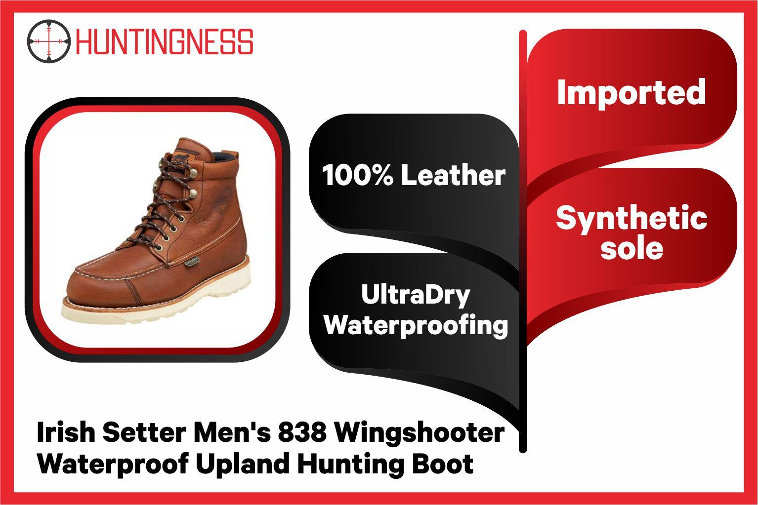 Irish Setter 7 inches Best Bird Men's Hunting Boot infographics