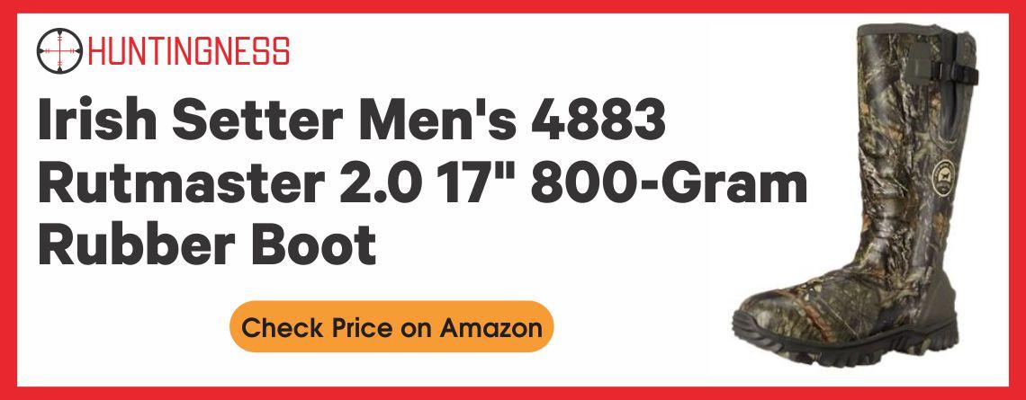 """Irish Setter Men's 4883 Rutmaster 2.0 17"""" 800-Gram Rubber Boot"""