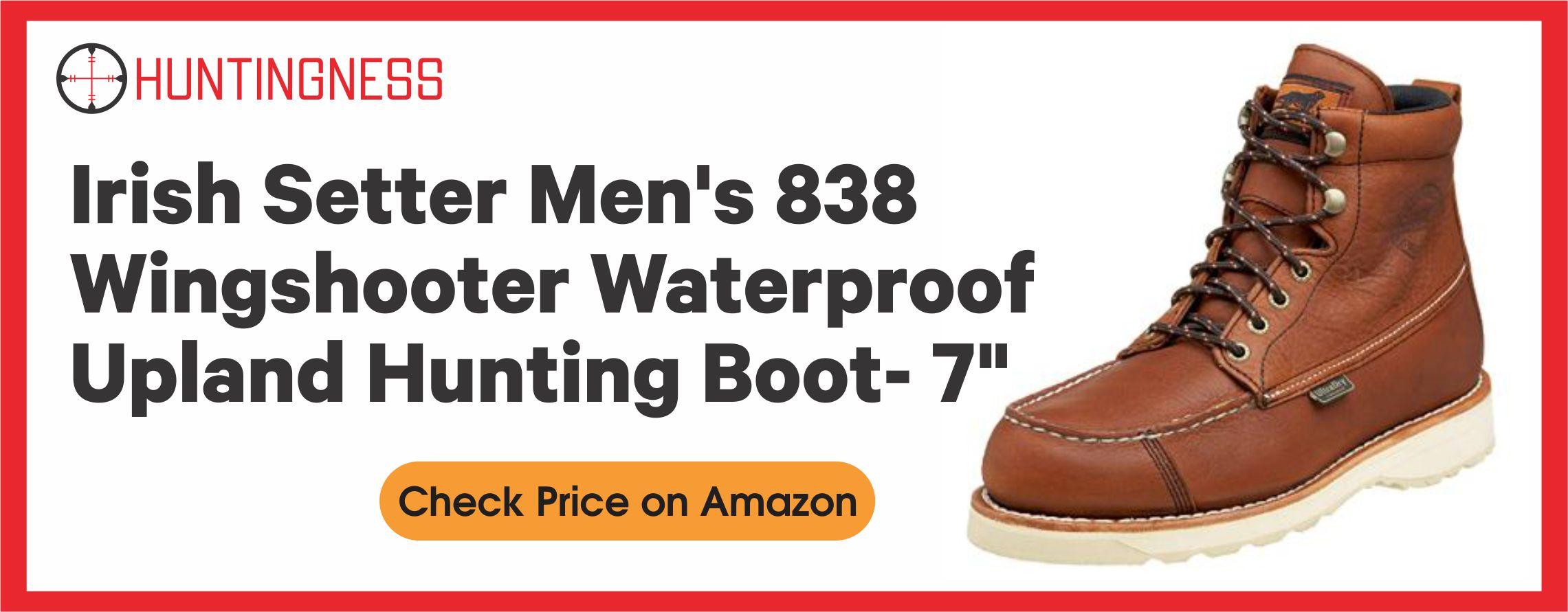 "Irish Setter Men's 838 Wingshooter Waterproof Upland Hunting Boot- 7"""