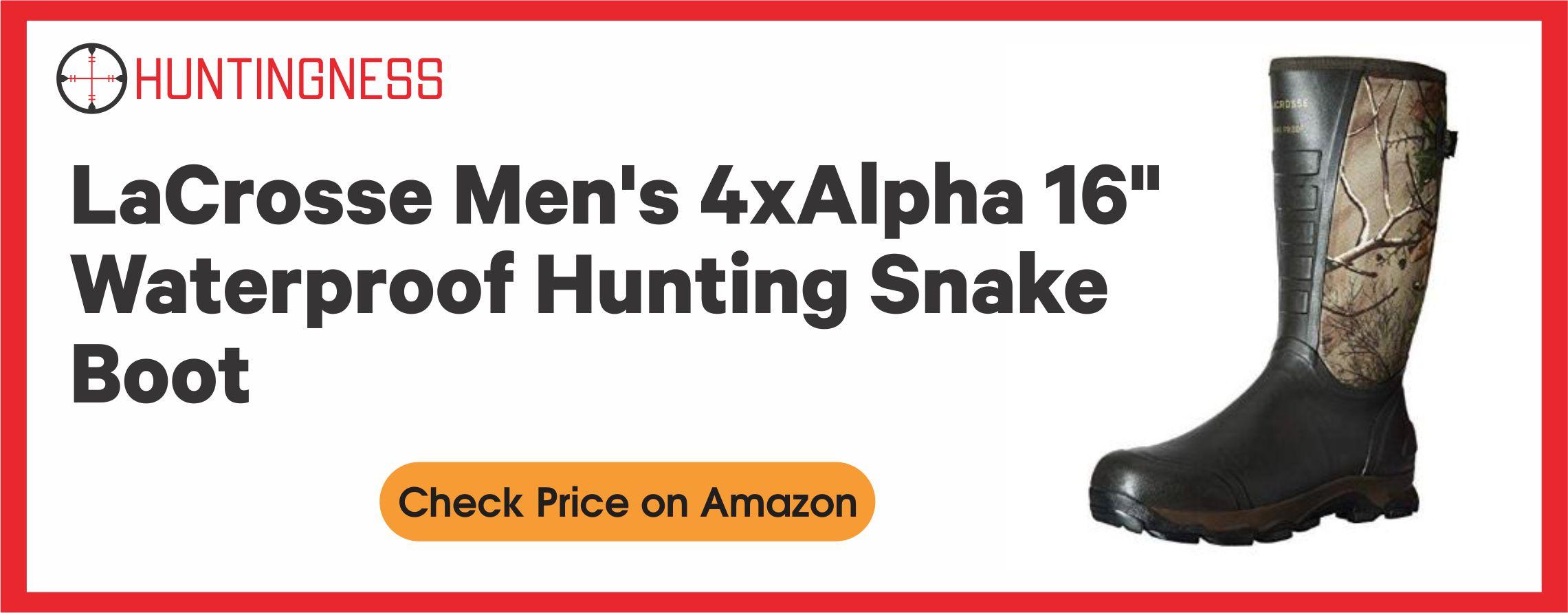 "LaCrosse Men's 4xAlpha 16"" Waterproof Hunting Snake Boot"