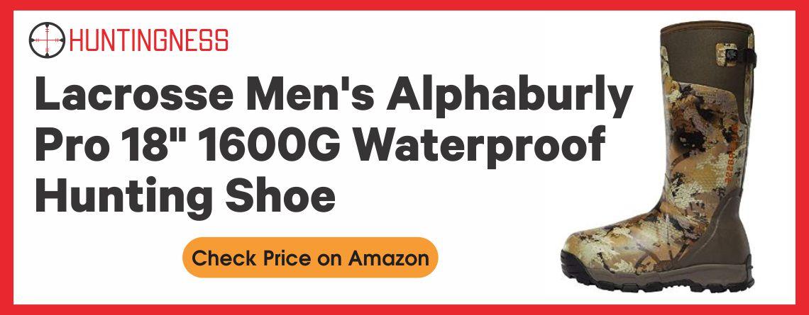 """Lacrosse Men's Alphaburly Pro 18"""" 1600G Waterproof Hunting Shoe"""