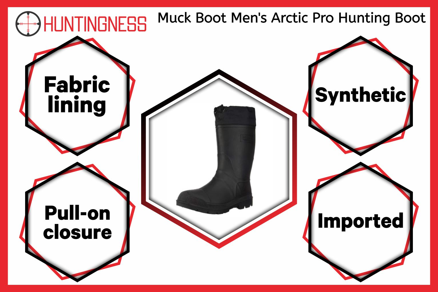 Muck Boot Men's Arctic Pro Hunting Boot infographic