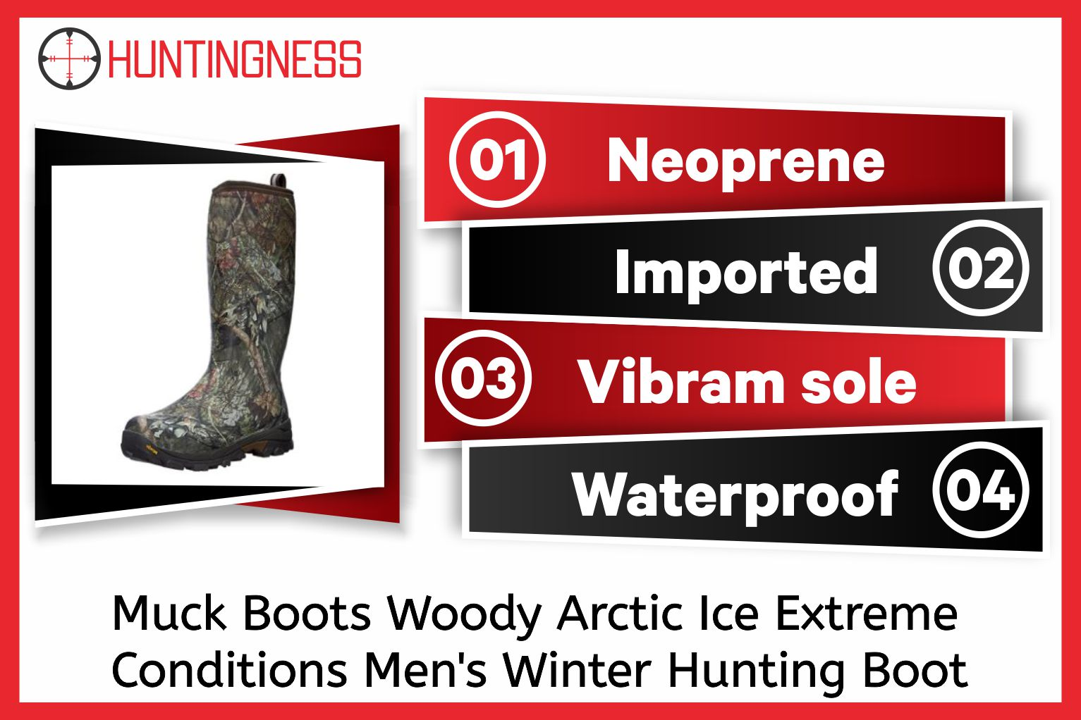 Muck Boots Woody Arctic Ice Extreme Conditions Men's Winter Hunting Boot With Arctic Grip