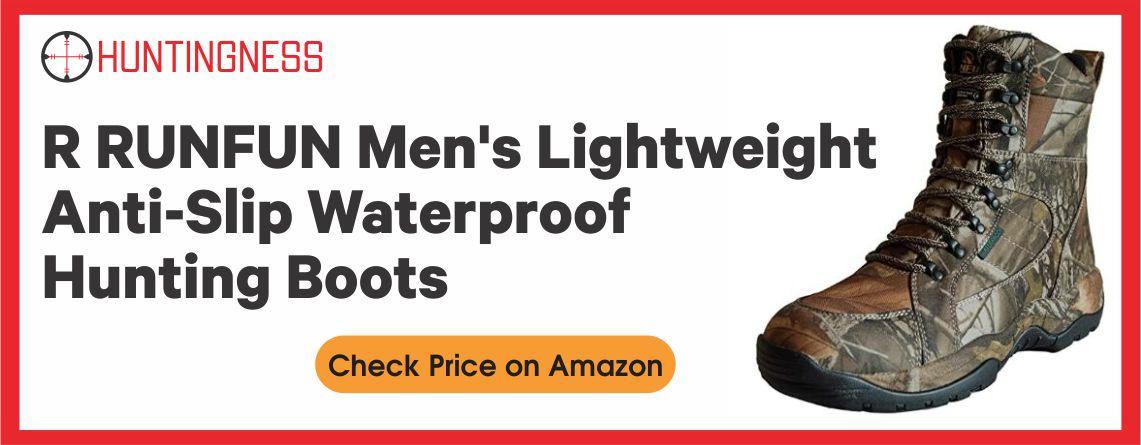 R RUNFUN Waterproof - Best Lightweight Hunting Boots