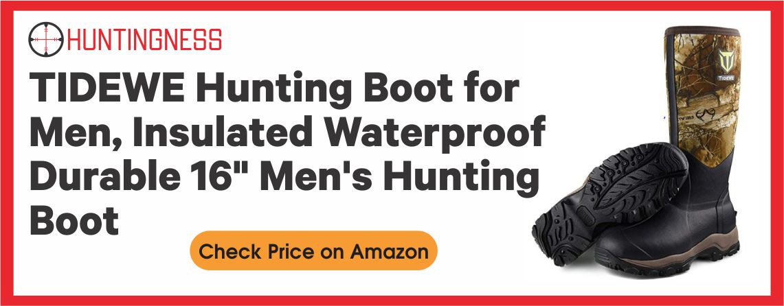 """TIDEWE Hunting Boot for Men, Insulated Waterproof Durable 16"""" Men's Hunting Boot, 6mm Neoprene and Rubber Outdoor Boot Realtree Edge Camo(400Gram & Standard)"""