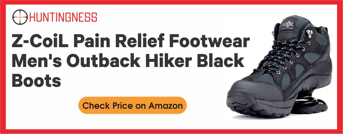 Z-CoiL Pain Relief Footwear Men's Outback Hiker Black Boots