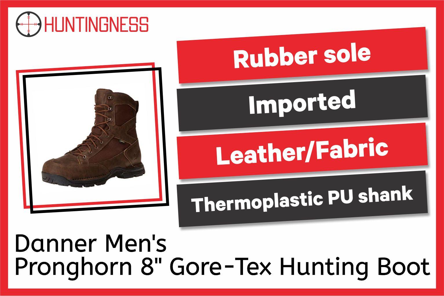 Danner Men's Pronghorn 8 Gore-Tex Hunting Boot infographics