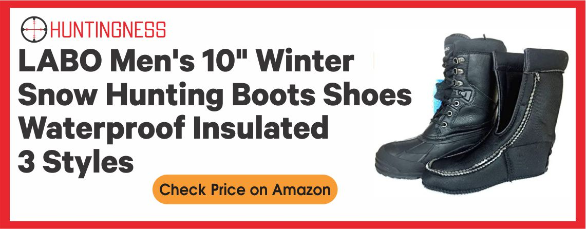 "LABO Men's 10"" - Winter Snow Hunting Boots"