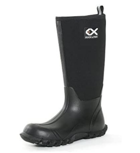 Duck and Fish Buck Man 16 inches Black Fishing Hunting Neoprene Rubber Knee Boots
